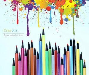 7066 children's wash color pens for drawing and writing -18pcs