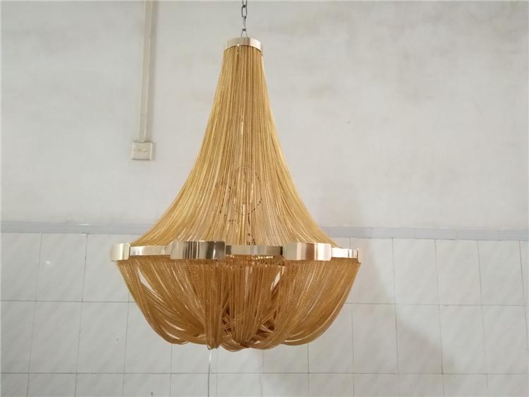 New model Italy style hanging aluminum chain pendant light