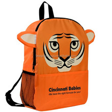 210D polyester wholesale high school backpack with Animal head designs