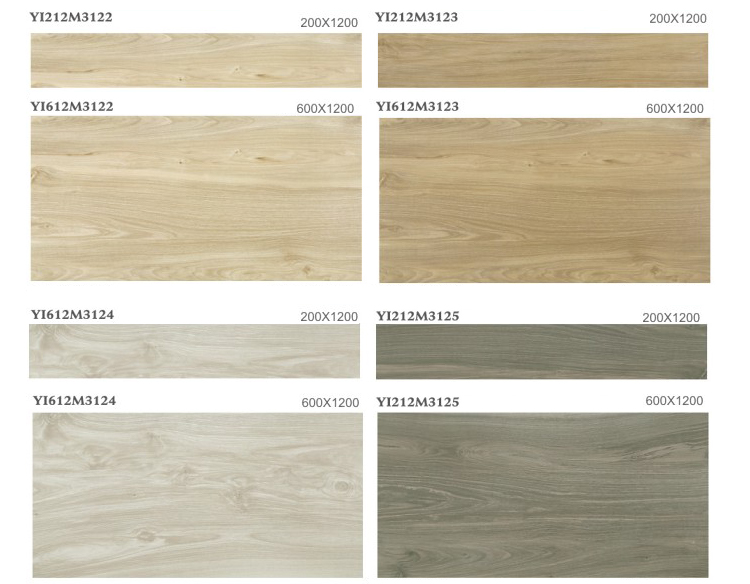 Indoor wood grain ceramic tile