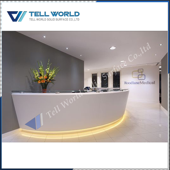 office reception counters. Curved White Office Reception Counters Acrylic High End Classic Furniture