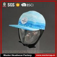 High quality custom 5-panel snapback hat with ear flaps
