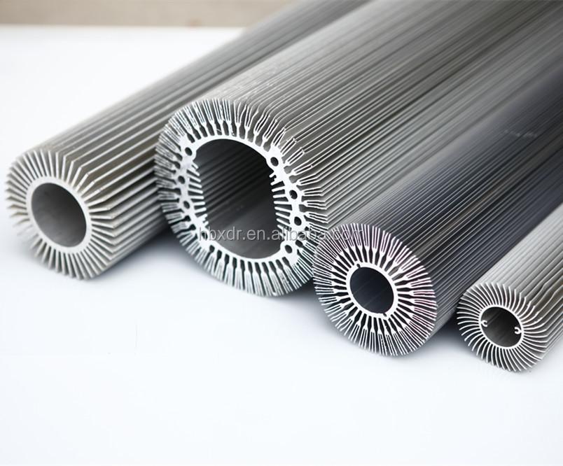 Aluminiumrohr mit flügel runde kühlkörper-Aluminiumprofil ...