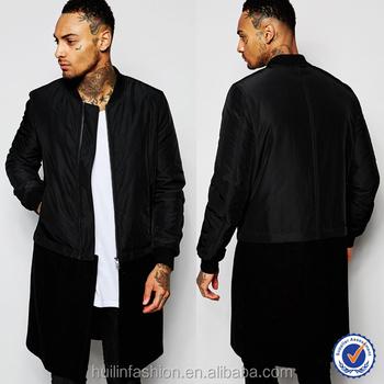 c48ed7a15c66 custom bomber jackets longline bomber jacket winter coats for men korean