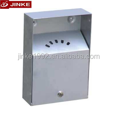 Outdoor Stainless Steel Wall Mounted Ashtray, Cigarette Smokeless Container For Sale