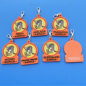 soft pvc kangaroo keychain for Australia city