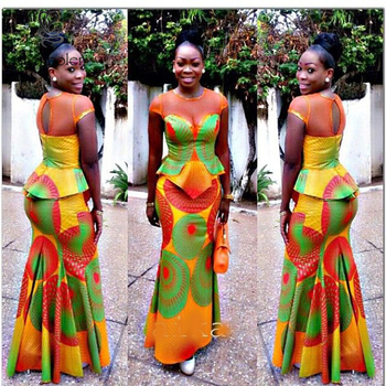 Factory Price Beautiful African Print Style Dress PatternsAfrican Adorable African Dress Patterns