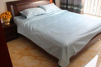 Cotton And Polycotton Bed Sheet, Sateen/Sateen Stripe/Jacquard Plain Dyed  Flat Sheet