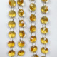 14mm yellow crystal octagon beads garland string for christmas decoration christmas tree decorative beads string