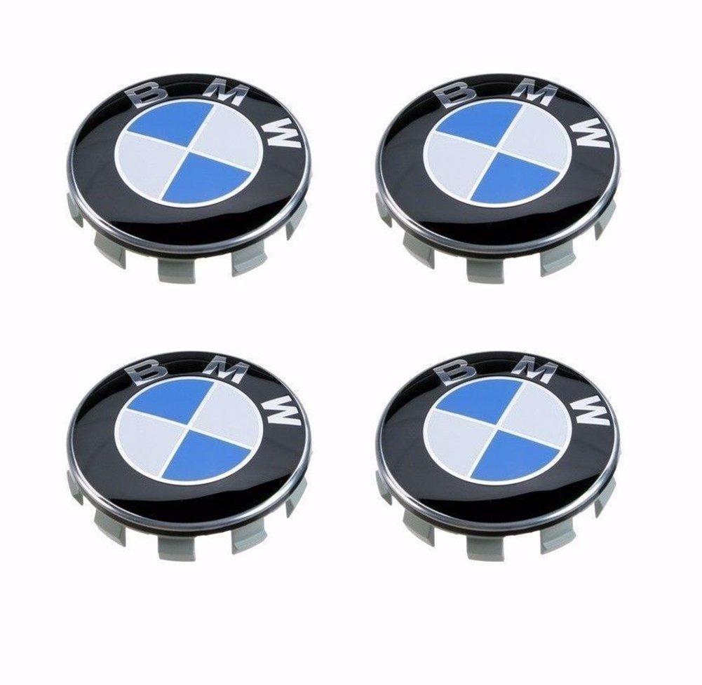 c8f01662b17 Azisen Genuine BMW Emblem Logo Badge Hub Wheel Rim Center Caps 68mm - Pack  of 4