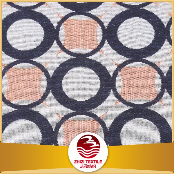 14 yeas fabric experience polyester cotton jacquard geometrical rounded pattern sofa upholstery fabric