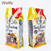800g, 1Kg Wheat Flour Packaging Bags Flat Bottom With Clear Window