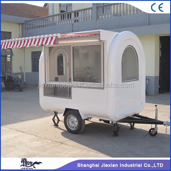 2017Jiexian JX-FR220H fast food mobile concession kitchen trailer with awning for sale