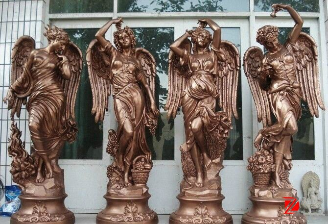 Bronze four season statues large angel sculptures