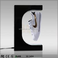 Acrylic shoe display,magnetic floating shoe display stand,pop up floating display racks for shoe