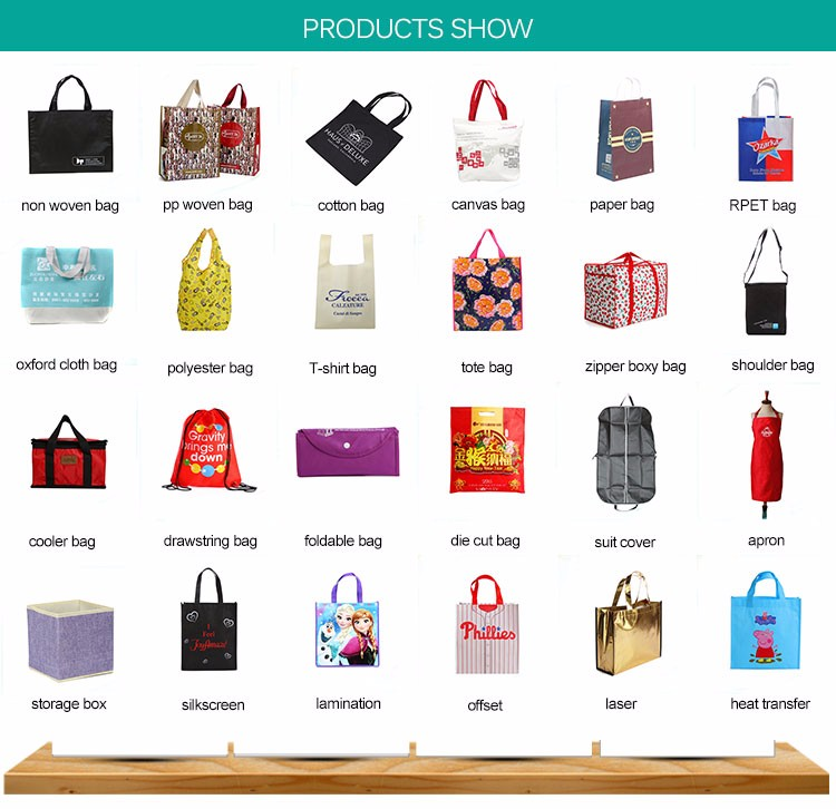 Chinese professional manufacturer laminate PP woven tote bag
