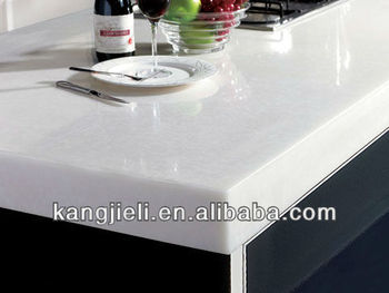 Pure White Acrylic Solid Surface Kitchen Counter Tops Bathroom