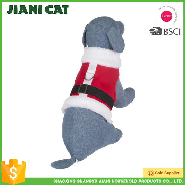 christmas costume red colour warm dog clothes