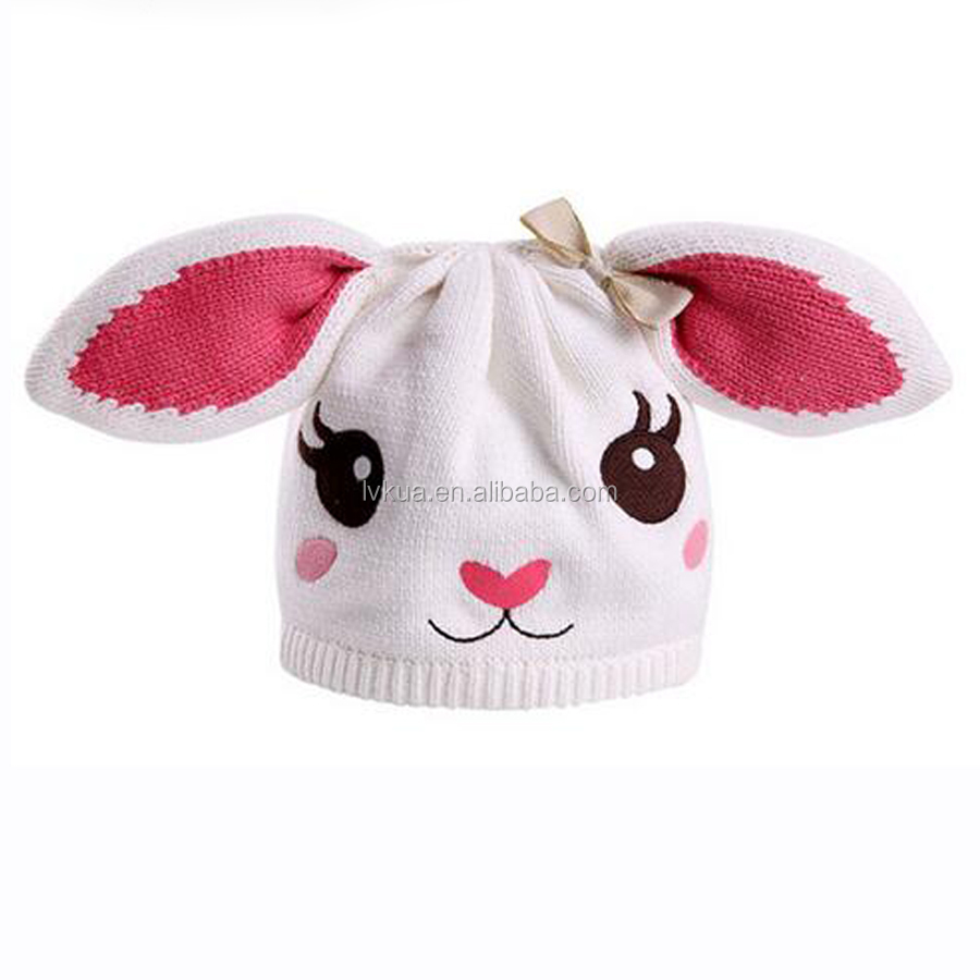2016 Cute Kid's Animals Bunny Beanies Rabbit Hat for Baby Girls