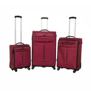 2018 High Quality 3pcs Fabric Luggage New Design Suitcase Set