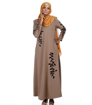 New Design Beaded Rhinstores Jeddah Dubai Islamic Abaya Collection In China