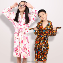 Autumn & winter coral fleece flannel Nightgown Children Boys thickening clip cotton pajamas baby boy Home Furnishing Dress Gown