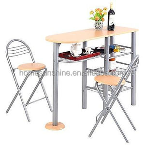 Pub Dining Set Counter Height 3piece Table and Chair Set Breakfast NEW