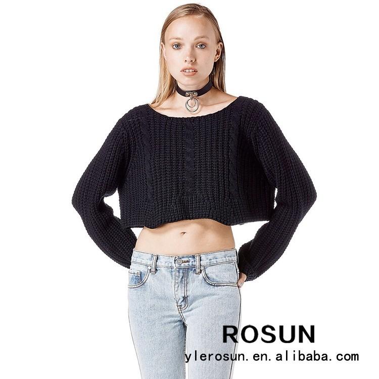 Chicas Con Estilo Cable de Punto Suéter Patrón de Suéter de ...