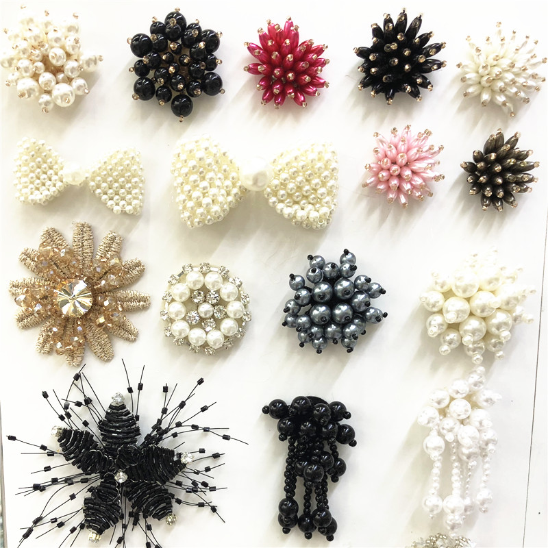 wholesale fashion black fabric braid patches for clothing