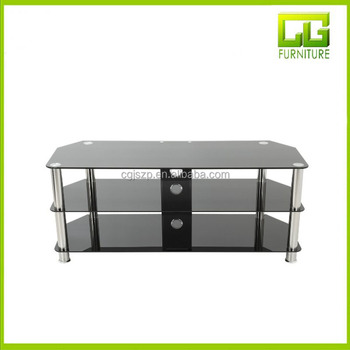 Glass And Chrome Tv Stand Black Tempered Glass Tv Stand Buy