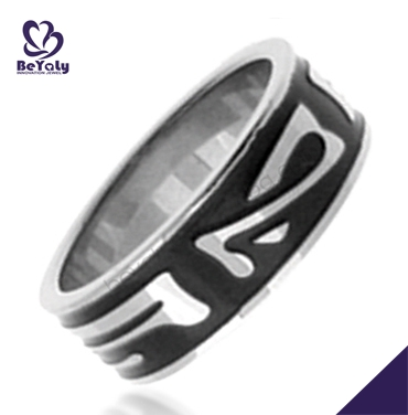 men's gold finger rings fashion custom stainless steel ring jewelry