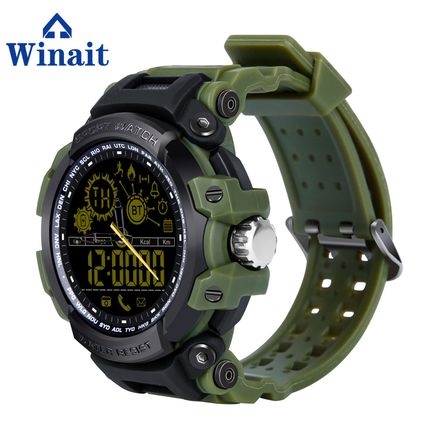 Winait DX16 waterproof smart watch, digital sports watch phone with night vision, Black;blue;gold;red