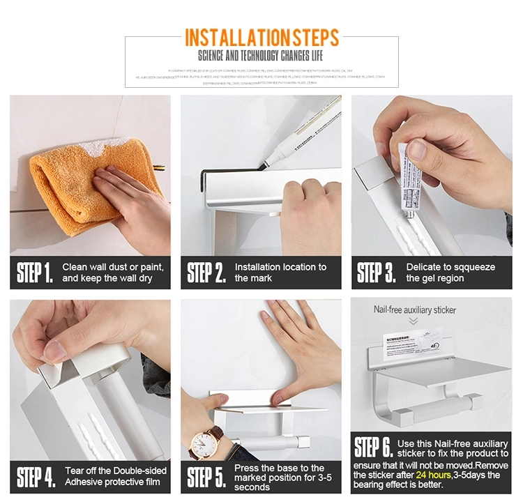 Gricol Hohe Qualität Chrom Wand Halterung Metall Telefon Bad Wc Tissue Papier Rollen Halter