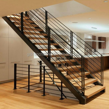 Genuine Material Steel Stringer Timber Treads Staircase