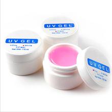 Chegada nova 1 PCS Rosa/Branco/Clear Transparent 3 Opções de Cor UV Construtor Gel Dicas Da Arte do Prego Gel Extensão Do prego Manicure