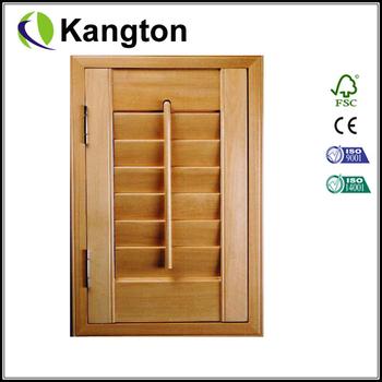 Pine Solid Cabinet Louver Door Shutter Door Buy Cabinet