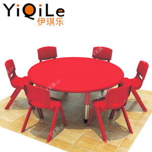 High quality kids round used table and chair for preschool kids daycare