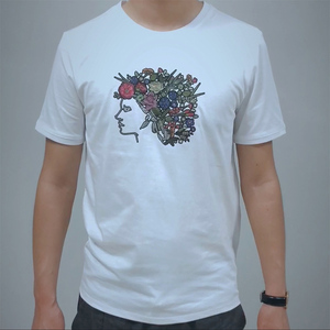 New Coming crew neck Imitate Embroidery Printing Amazing Designer 3D Print men's T shirt.
