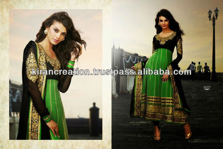Green Long Shalwar And Kameez