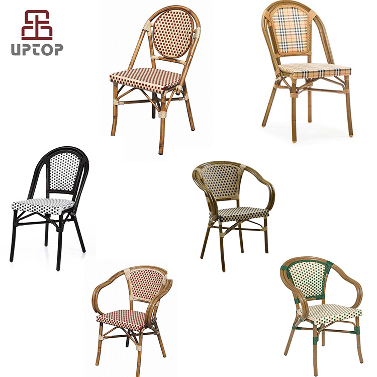 Bamboo restaurant furniture rattan dining chair french bistro chairs