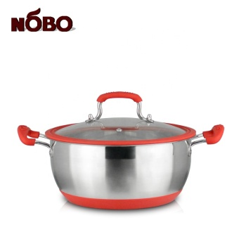 Newest NOBO induction heating cooker silicone cover pot stainless steel with double bottom