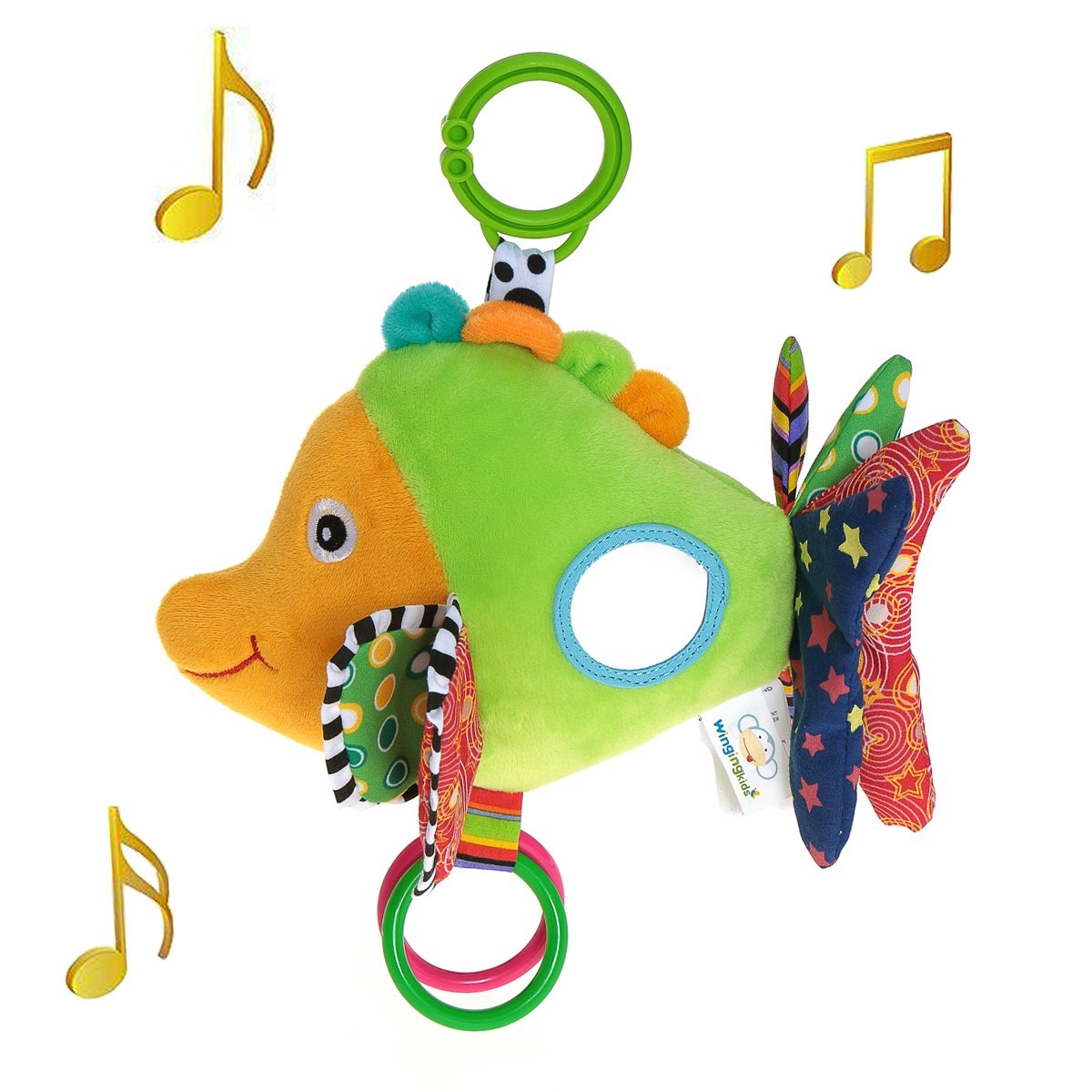 Wingingkids Baby Musical Toys Stroller Toys for 0-3 Year Old Baby Multifunction Baby Toys for Early Development
