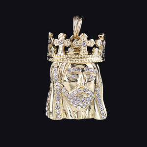 Wholesale jewelry king head gold pendant