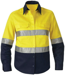 200gsm 100%Cotton Reflective Hi-vis Safety Work T-shirt