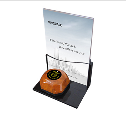 Restaurant hotel bar table stand menu card holder and bell holder