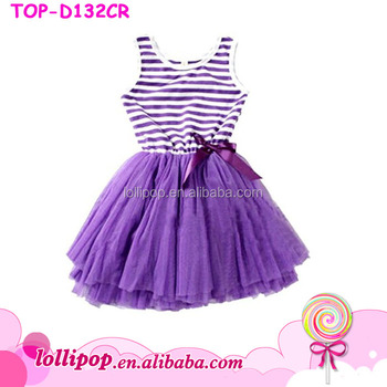 c816b81f1 Persnickety New Style Kids Girls Dress Little Baby Stripe Tutu ...