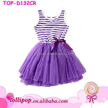 c816b81f1 Persnickety New Style Kids Girls Dress Little Baby Stripe Tutu ...