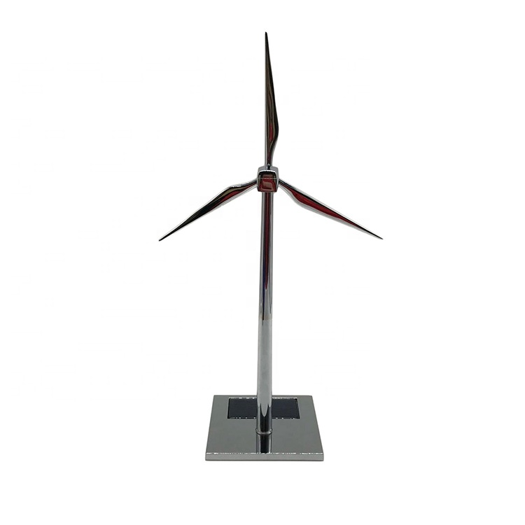 Customized mini metal solar powered windmill toy for company celebration souvenirs