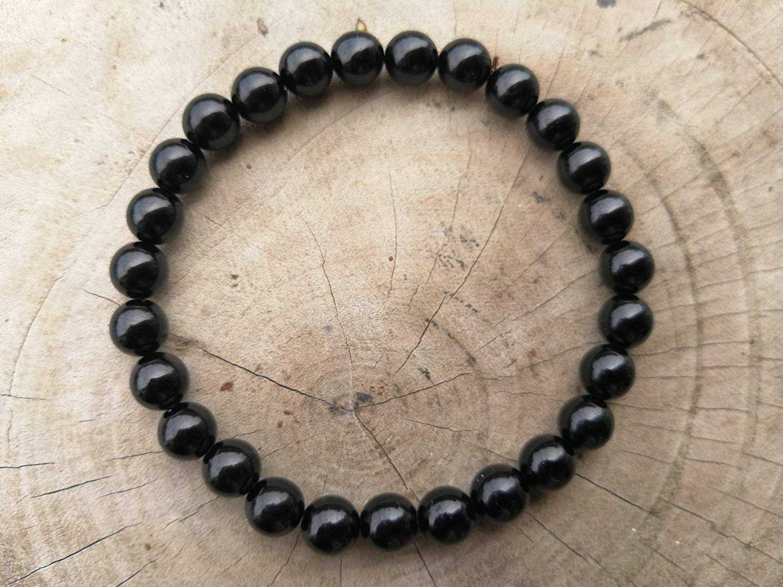 8 mm,Black Tourmaline Bracelet,tourmaline bracelet,Healing Stones For Protection,Purification & Grounding,Black Tourmaline Stone Bracelet - size 6.25,6.5,7,7.5,8,8.5 inches