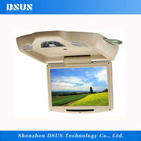 11 Inch Universal Flip Down Car DVD Player Roof installation DVD MonitorWith DVD/TV/USB/SD/IR/FM